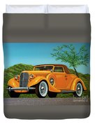 Lincoln K Convertible 1935 Painting Duvet Cover