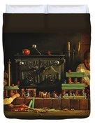 Lincoln Logs Duvet Cover