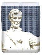 Lincoln Memorial - Dark Blue Duvet Cover