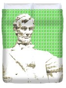 Lincoln Memorial - Green Duvet Cover