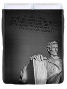 Lincoln Memorial In Washington Dc President Duvet Cover