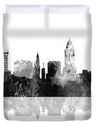 Lincoln Nebraska  Skyline Duvet Cover