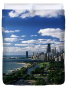 Lincoln Park And Diversey Harbor Duvet Cover