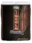 Lincoln Theater Sign Duvet Cover