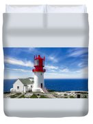 Lindesnes Lighthouse - Norway's Oldest Duvet Cover