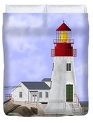 Lindesnes Norway Lighthouse Duvet Cover