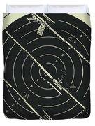 Line Art Rifle Range Duvet Cover