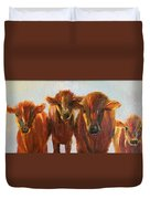 Lined Up For Supper Duvet Cover