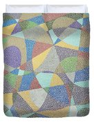 Lines And Curves Duvet Cover