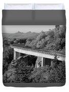Linn Cove Viaduct Black And White Duvet Cover