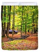 Linn Run Pennsylvania 2 - Paint Duvet Cover