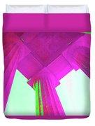 Linocln Column Pink Duvet Cover