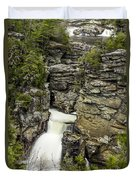 Linville Falls The Upper View Duvet Cover