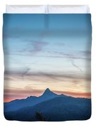 Linville Gorge Wilderness Mountains At Sunset Duvet Cover