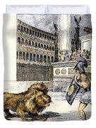 Lion & Gladiator Duvet Cover