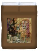 Lion And Lamb Collage Duvet Cover