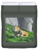 Lion At Leisure Duvet Cover