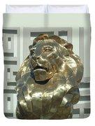 Lion At Mgm Duvet Cover