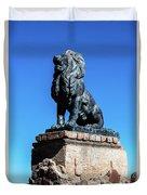 Lion At San Xavier Mission - Tucson Arizona Duvet Cover
