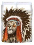 Lion Chief Duvet Cover