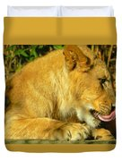 Lion Cub - What A Yummy Snack Duvet Cover