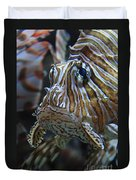 Lion Fish Profile Duvet Cover