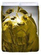 Lion Gold Duvet Cover