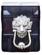 Lion Head Door Knocker Duvet Cover
