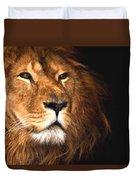 Lion Head Oil Painting Duvet Cover