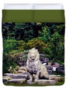 Lion In A Concrete Jungle Duvet Cover
