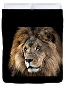 Lion King Of The Jungle 2 Duvet Cover by James Sage
