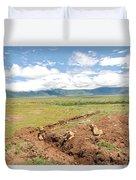 Lion Landscape Duvet Cover