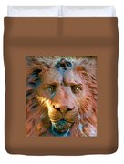 Lion Of Saint Augustine Duvet Cover