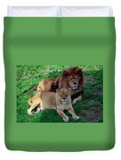 Lion Pair Duvet Cover