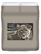 Lion Portrait Duvet Cover