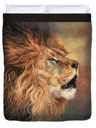 Lion Roar Profile Duvet Cover