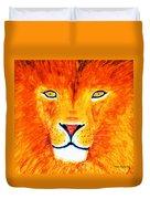 Lion Selfie Color Pop Duvet Cover
