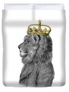 Lion The King Of The Jungle Duvet Cover