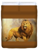 Lion  Duvet Cover by William Huggins