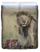 Lion With Kill Duvet Cover