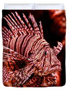 Lionfish Of The Sea Duvet Cover