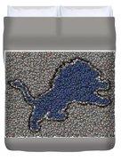 Lions Bottle Cap Mosaic Duvet Cover by Paul Van Scott
