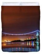Lions Gate Bridge At Night 2 Duvet Cover