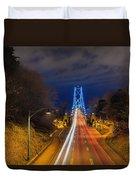 Lions Gate Bridge Light Trails Duvet Cover