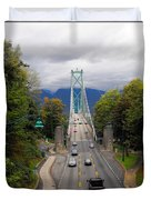 Lion's Gate Bridge Duvet Cover