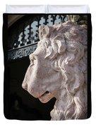 Lion's Gaze Duvet Cover by Todd Blanchard