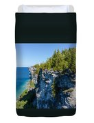 Lions Head Limestone Cliffs Duvet Cover