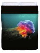 Lions Mane Cyanea Capillata Jellyfish Duvet Cover