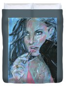 Lipstick And Leather Duvet Cover