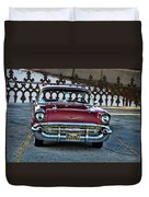 Lipstick Red At The Gate Duvet Cover
